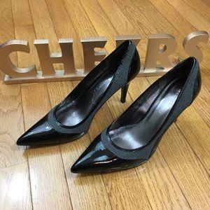 Bandolino Black/Fabric Detail Heels